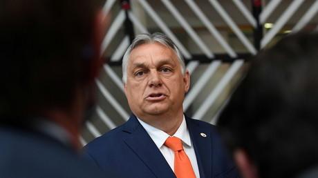 Le Premier ministre hongrois Viktor Orban au bâtiment du Conseil européen à Bruxelles (Belgique), le 24 juin 2021.