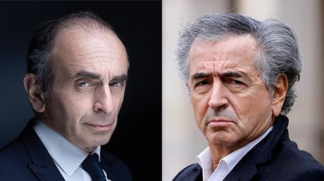 Eric Zemmour, le 22 avril 2021, et Bernard-Henri Lévy, le 28 février 2020 (image d'illustration).