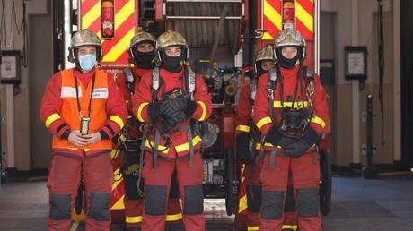 La Brigade des sapeurs-pompiers de Paris (BSPP) à Paris, le 23 avril 2021 (illustration).