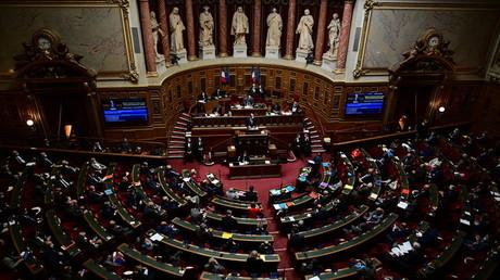 L'hémicycle du Sénat le 1er avril 2021.