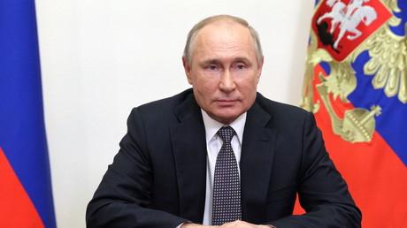 Le président russe Vladimir Poutine lors de la Conférence internationale de Moscou sur la sécurité internationale le 23 juin 2021 (image d'illustration).