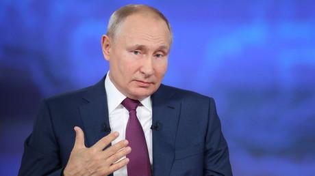 Vladimir Poutine lors de la ligne directe du 30 juin 2021.