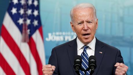 Joseph Biden en conférence de presse le 2 juillet 2021.