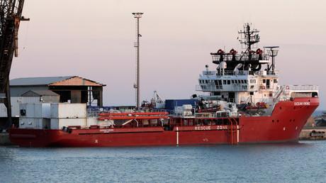 Le navire de sauvetage Ocean Viking à Porto Empedocle en Sicile, Italie, le 6 juillet 2020 (illustration).