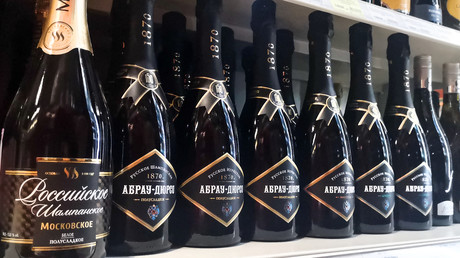 Du champagne russe à Moscou, 3 juillet 2021 (image d'illustration).