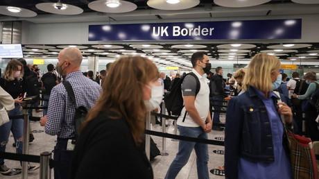 File d'attente à l'aéroport d'Heathrow (image d'illustration).