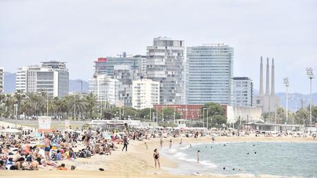 La plage barcelonaise de Bogatell Espagne, 6 juin 2021 (image d'illustration).