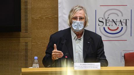 Didier Raoult au Sénat le 15 septembre 2020 lors d'une audition sénatoriale.