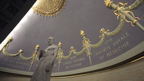 Statue d'Hippocrate, à l'Académie nationale de médecine de Paris (image d'illustration).