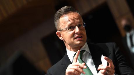 Le ministre hongrois des Affaires étrangères le 22 juin 2021 au Luxembourg.