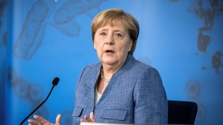 La chancelière allemande Angela Merkel à Berlin, le 13 juillet 2021 (image d'illustration).