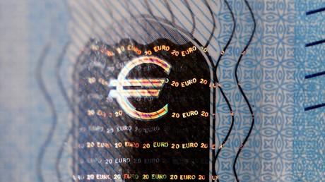 Détail d'un billet d'euros (illustration).