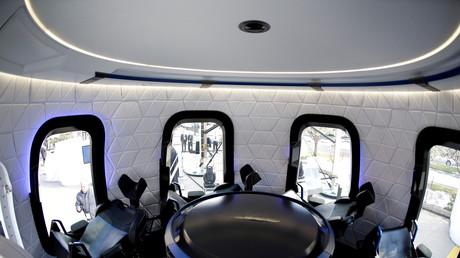 L'intérieur de la capsule de Blue Origin, dans le Colorado aux Etats-Unis, le 5 avril 2017 (image d'illustration).