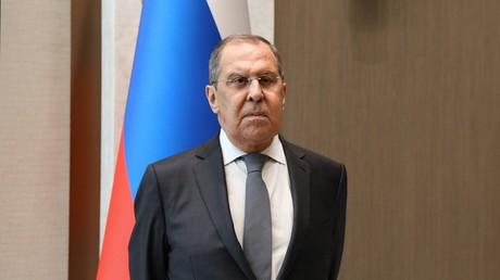 Sergeï Lavrov, ministre russe des Affaires étrangères, le 16 juillet à Tachkent (Ouzbékistan).