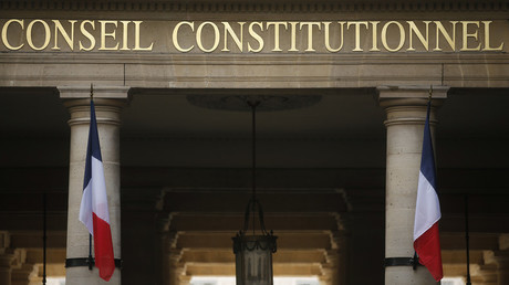 L'entrée du Conseil constitutionnel à Paris, le 8 mars 2016 (image d'illustration).