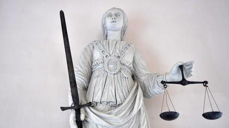 Statue allégorique de la Justice à la Cité judiciaire de Rennes, 2017 (image d'illustration).