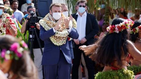 Emmanuel Macron à Tahiti le 26 juillet 2021 (image d'illustration).