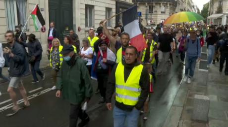 Les manifestants du 27 juillet à Paris.