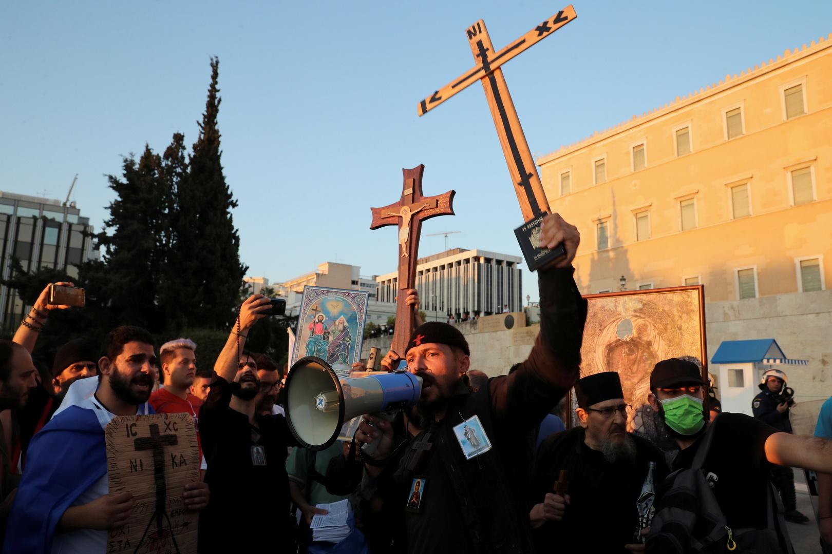 Grèce : des milliers de personnes manifestent contre la vaccination obligatoire des soignants