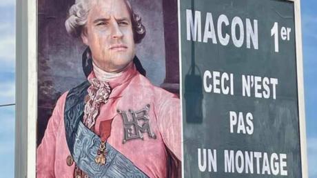 L'affiche déployée par Michel-Ange Flori.