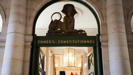 L'entrée du Conseil constitutionnel, à Paris, le 21 juillet 2020.