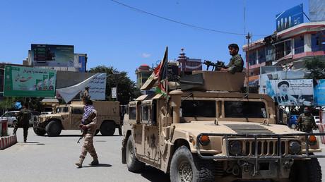 Les forces de sécurité afghanes, dans un véhicule Humvee, à Kunduz le 19 mai 2020 (image d'illustration).