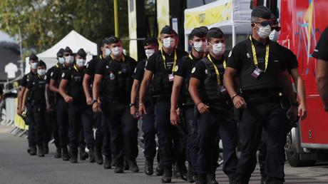 Gendarmes sur le Tour de France le 10 septembre 2020 (image d'illustration).