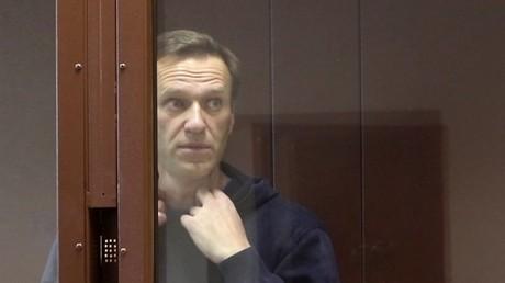 Alexeï Navalny, lors d'un procès à Moscou en février 2021 (image d'illustration).