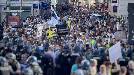 Manifestation à Paris le 14 août 2021 (image d'illustration).