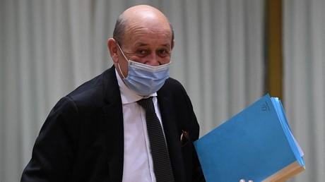 Jean-Yves Le Drian le 12 juillet 2021 à Bruxelles (image d'illustration).