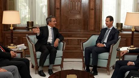 Le député européen Thierry Mariani (RN) s'est rendu en Syrie pour rencontrer Bachar el-Assad le 21 août 2021.