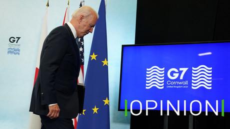 Le président américain Joe Biden après le sommet du G7 dans les Cornouailles au Royaume-Uni, le 13 juin 2021 (image d'illustration).