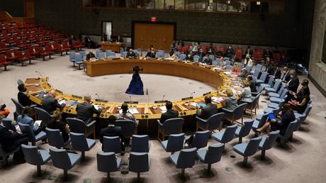 Le Conseil de sécurité de l'ONU se réunit au sujet de l'Afghanistan au siège des Nations Unies à New York, le 30 août 2021.