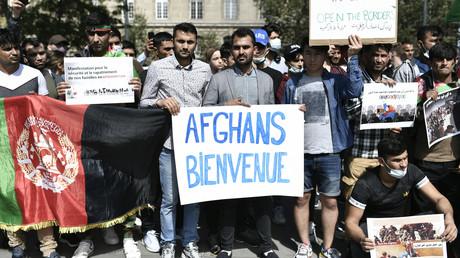 Manifestation en soutien à l'accueil de réfugiés afghans à la place de la République, à Paris, le 22 août 2021 (image d'illustration).