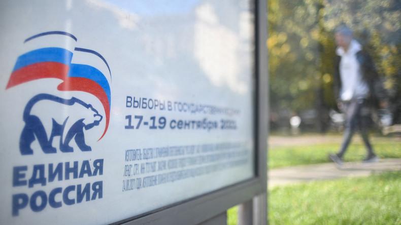 Législatives russes : le parti au pouvoir Russie unie arrive en tête selon les premiers résultats