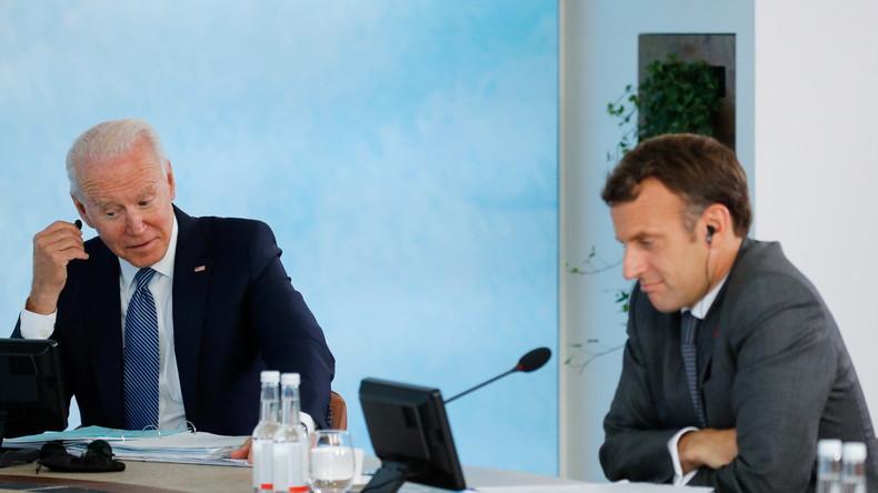«La France humiliée» : la classe politique réagit à l'échange Biden-Macron