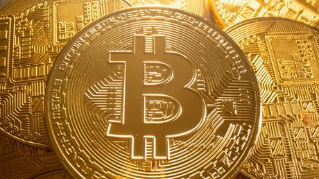 Une représentation de la crypto-monnaie bitcoin (image d'illustration).