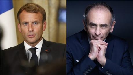 Photomontage montrant Emmanuel Macron à gauche, Eric Zemmour à droite (image d'illustration).