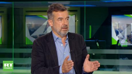 Régis Le Sommier, grand reporter, sur le plateau de RT France, le 11 septembre 2021.