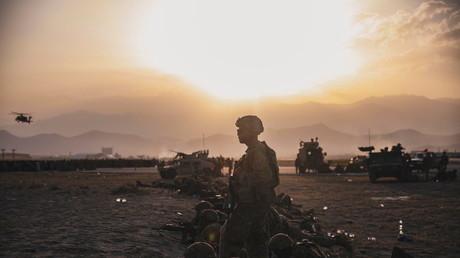 Soldats américains à l'aéroport de Kaboul le 15 août 2021 (image d'illustration).