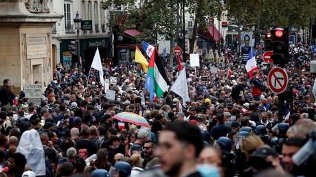 Une manifestation contre le pass sanitaire, à Paris, le 11 septembre 2021 (image d'illustration).