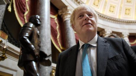 Le Premier ministre britannique Boris Johnson, le  22 septembre 2021 au Capitole des Etats-Unis à Washington (image d'illustration).