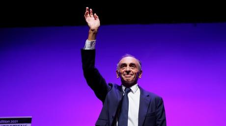 Eric Zemmour lors d'une conférence à Toulon (Var), le 17 septembre 2021.