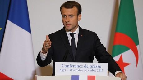 Emmanuel Macron à Alger (Algérie), le 6 décembre 2017 (image d'illustration).