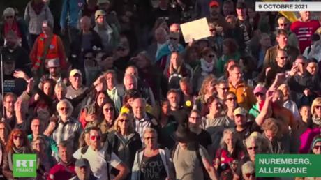 Allemagne : des centaines de personnes manifestent contre les mesures anti-Covid à Nuremberg