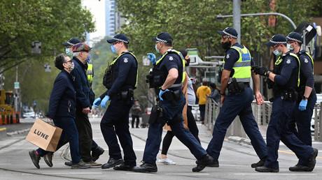 Des policiers à Melbourne, le 30 septembre 2021 (image d'illustration).