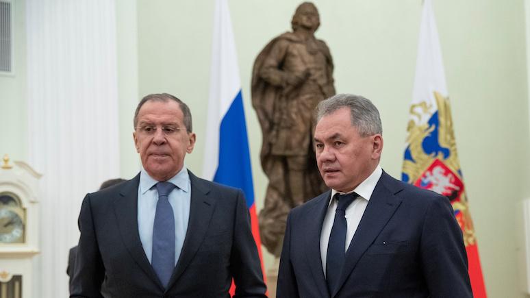Bloomberg: Лавров и Шойгу проведут переговоры в Турции