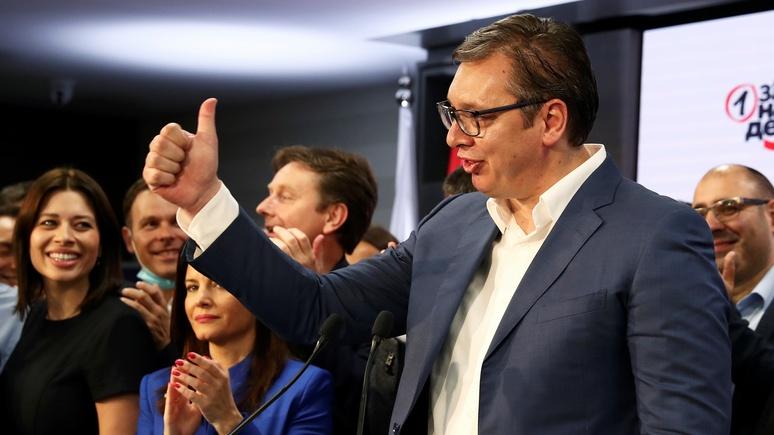Bloomberg: выборы в Сербии предоставили партии Вучича полный контроль над страной