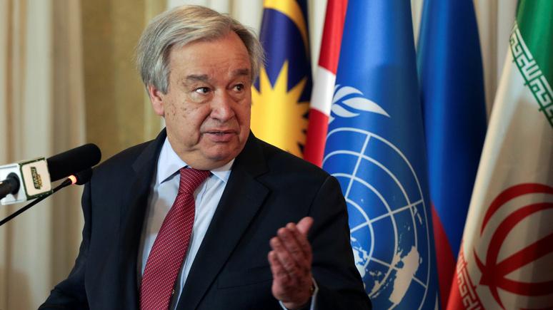 Генсек ООН: надеюсь, что пандемия станет сигналом для сплочения человечества