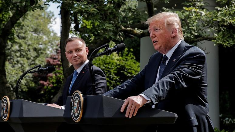 Polityka: отношения Дуды и Трампа крайне вредоносны для единства ЕС и НАТО